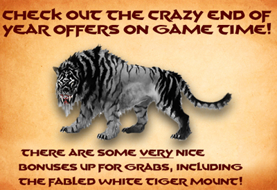 Check out the crazy end of year offers on game time!